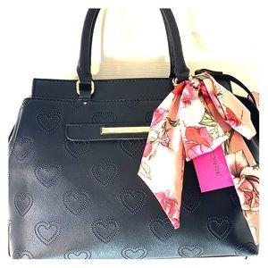 Betsey Johnson black satchel. NWT